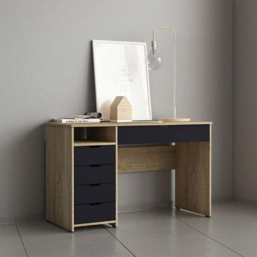 Γραφείο σε χρώμα sonoma-Γκρί σκούρο 117x52x73