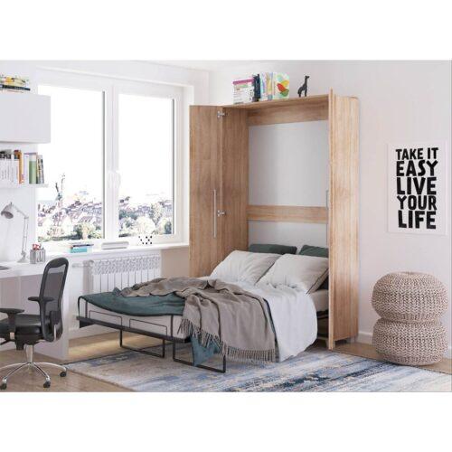 Κρεβάτι Τοίχου Godes σε απόχρωση Sonoma 120×200